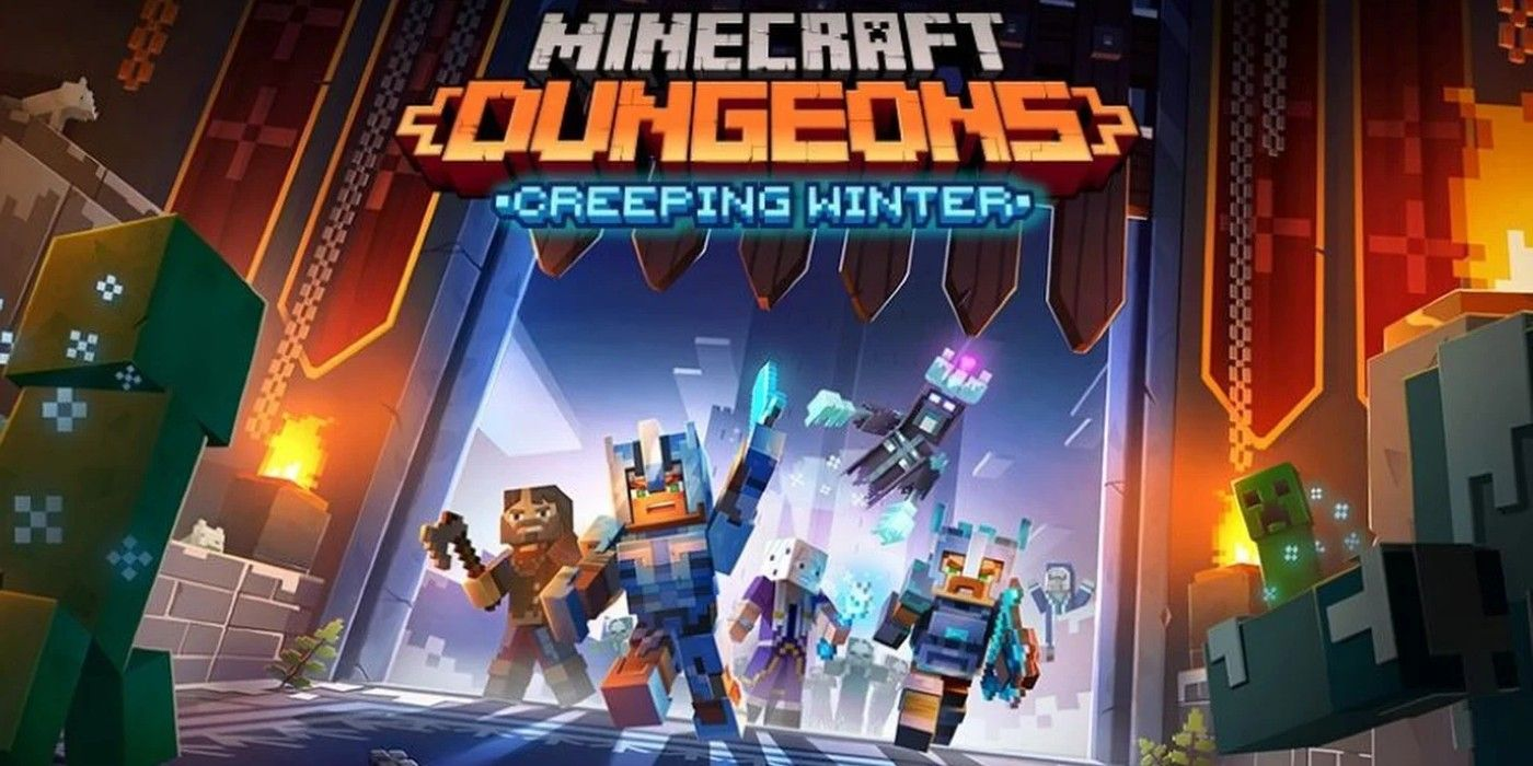 Minecraft Dungeons Creeping Winter DLC Apk Mobile Android Full Version Game Setup Free Download